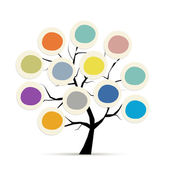 Abstract tree with circle frames for your design — Stockvector