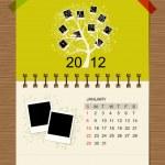 Vector calendar 2012, january. — Stock Vector #7328064