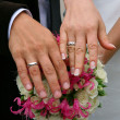 Hands of a newly-married couple — Stock Photo #2128946