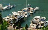 Baia di balaklava con yacht — Foto Stock