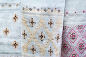 Silk embroidery — Stock Photo
