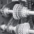 Gears and chain — Stock Photo