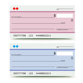 Bank check — Stock Photo