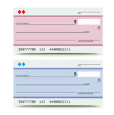 Bank check — Stock Vector