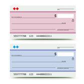 Bank check — Stock Vector