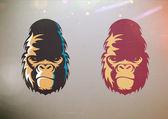 Viso sorriso gorilla — Foto Stock