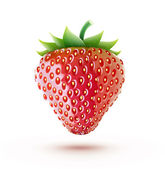 Fresh strawberry — Vector de stock