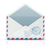 Airmail post envelope — Stock Vector