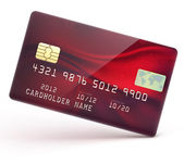 Red credit card — Vector de stock