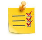 Lista de verificação amarelo — Foto Stock