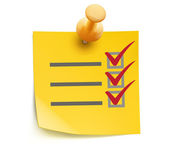 Yellow check list — Stock Photo