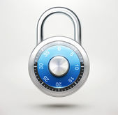 Combination pad lock — Stock Vector
