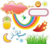 Elementos de diseño de verano — Foto de Stock