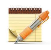 Cewka związane notebook — Wektor stockowy