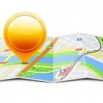 Global navigation concept — Stock Vector