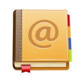 Address book icon — Stock Photo