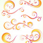 Decorative floral elements — Stock Vector #7381638
