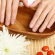 Woman is getting manicure — Stock Photo #12436131