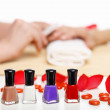 Woman is getting manicure — Stock Photo #12436156
