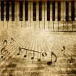 Music notes background — Stock Photo #12496102