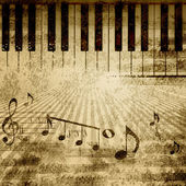 Musik-noten-hintergrund — Stockfoto