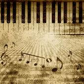 Hudební pozadí poznámek — Stock fotografie