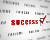 Words of success — Stock Photo