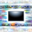 Stock Photo: A flat screen television
