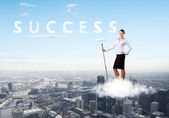 Collage on business theme — Stock Photo