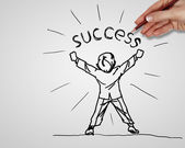 Creativity and success in business — Stock Photo