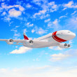 Large passenger airplane - Stock Photo