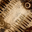 Music notes background - Stock Photo