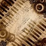 Fondo de notas de la música — Foto de Stock