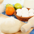 Stock Photo: Different products to make bread