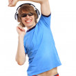 Royalty-Free Stock Photo: Happy smiling young man dancing