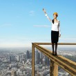 Businesswoman and cityscape — Stock Photo