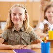 Little girl at school class — Stock Photo #12782596