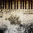 Music notes background — Lizenzfreies Foto