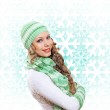 Young woman wearing warm sweater — Stock Photo #12782637