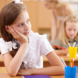Little girl at school class — Stock Photo #12782724