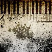 Musik anteckningsbakgrund — Stockfoto