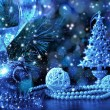 Blue Christmas collage — Stock Photo #13350426