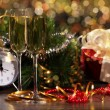 Royalty-Free Stock Photo: New Year's collage with glasses