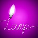 Экология лампы свет — Стоковое фото
