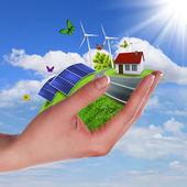 Ecology and safe energy — Stock Photo