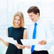 Two young business collegues. — Stock Photo