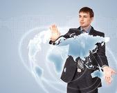 互联网概念的全球技术 — 图库照片
