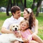 Happy family having fun outdoors — Stock Photo #13468343