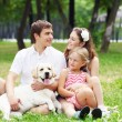 Happy family having fun outdoors — Stock Photo #13468469