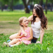 Mother and daughter in the park — Stock Photo #13469044
